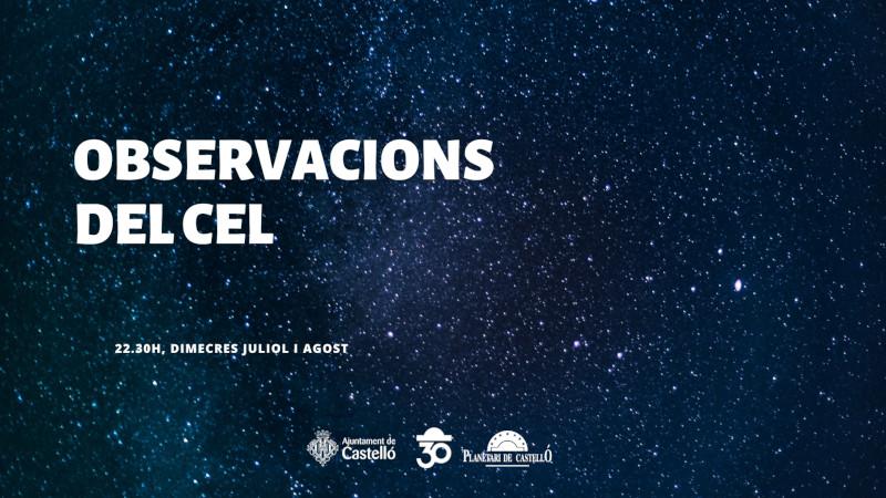 Imagen representativa de Observaciones del cielo en el Planetari